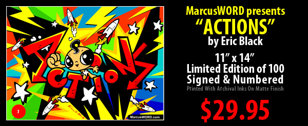 Marcus Action Comic Limited Edition Print